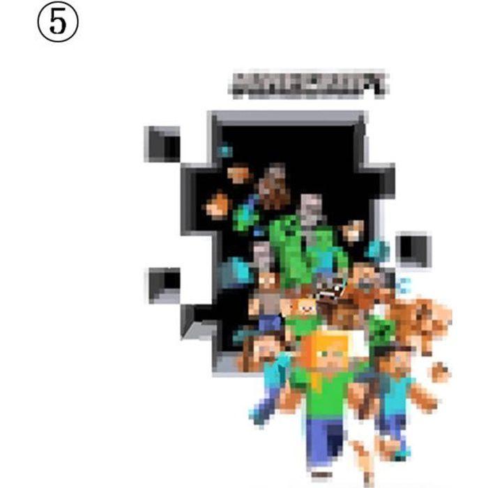 Meetcute Minecraft Stickers Muraux Fonds Décran 3d Décalcomanies Minecraft Home Decorationstyle 5