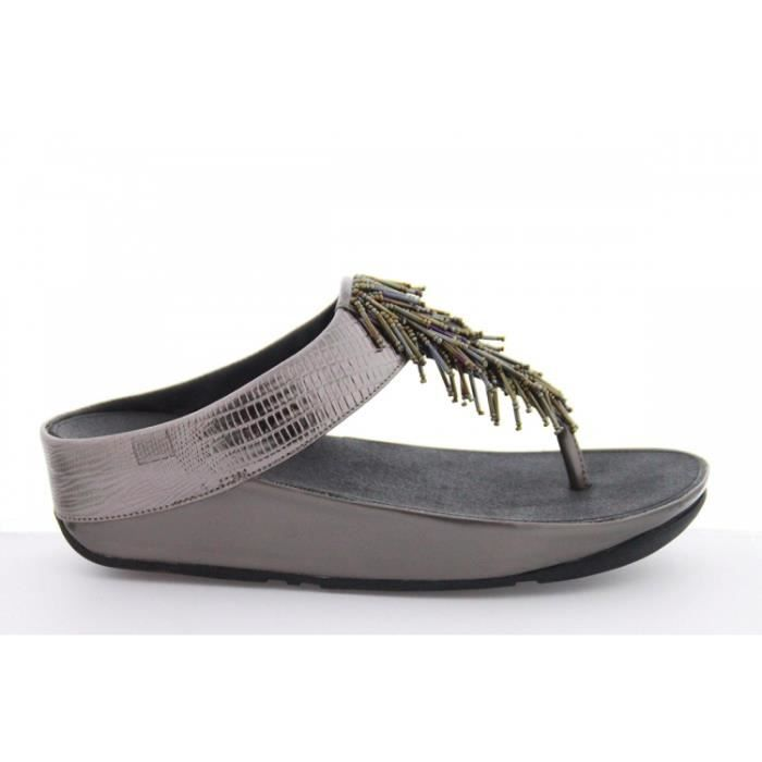 Tongs - FitFlop Cha ChaNimbus Silver Gris