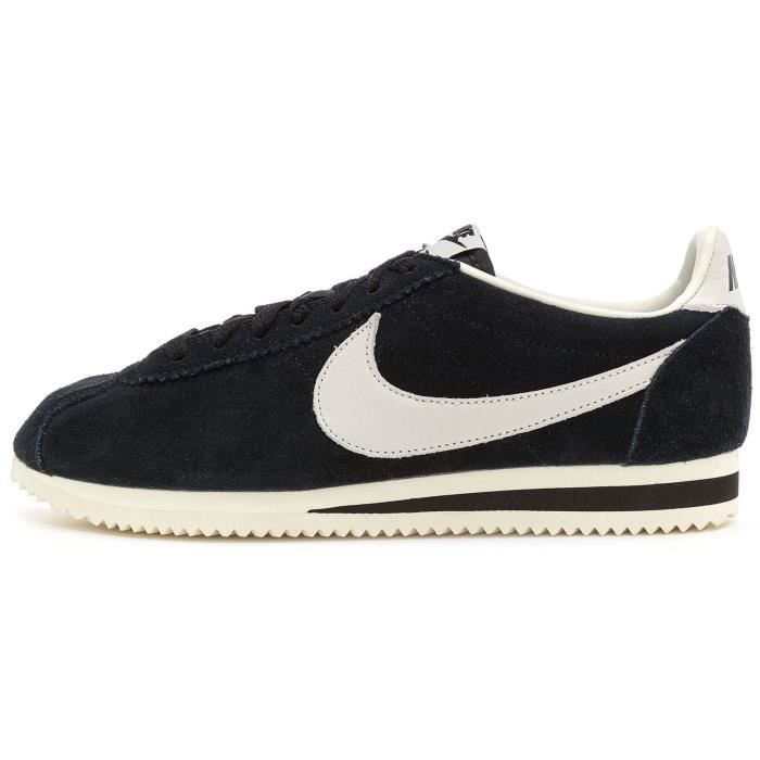 Nike Classic Cortez Leather SE Formateurs Baskets en Noir & Blanc 861535 003[UK 9.5EU 44.5]