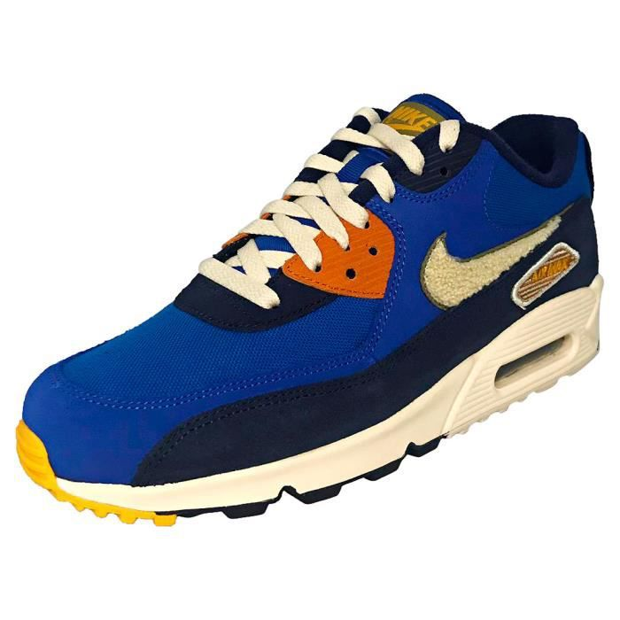 super popular a7aba ace01 BASKET Nike Air Max 90 Premium Se Homme Baskets Bleu roya