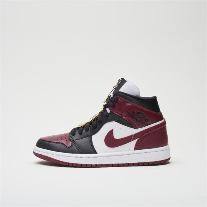 Basket Air Jordan 1 Mid CZ4385-016 Chaussures de pour Femme Rouge ...