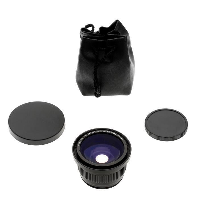 OBJECTIF Objectif Fisheye 0,35x avec Macrophoto pour Canon
