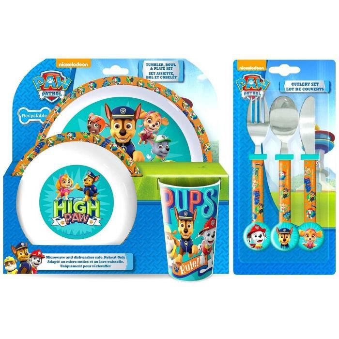 Nickelodeon paw patrol plastique picnic déjeuner dîner cuillère /& fourche set de couverts