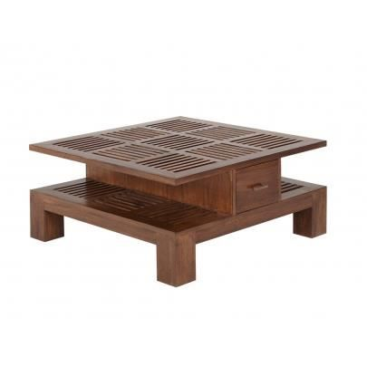 table basse bali ii 2 tiroirs teck massif achat. Black Bedroom Furniture Sets. Home Design Ideas