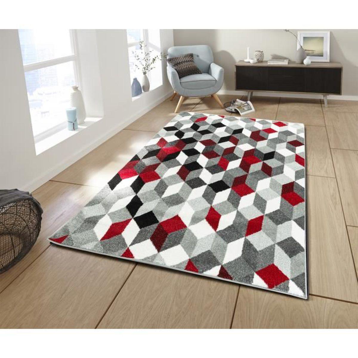 TAPIS CARA Petit tapis de salon multicolore - 50 x 80 cm