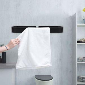 INDA Styl Porte-Serviettes en Acier Inoxydable bross/é 8 x 30 x 5 cm Blanc
