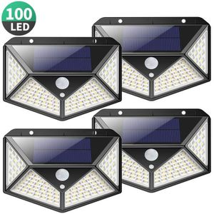 GUIRLANDE D'EXTÉRIEUR Lampe Solaire Extérieur 100 led【4 Pack 2200mAH】écl
