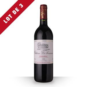 VIN ROUGE 3X Château la Fonrousse 2014 Rouge 75cl AOC Berger