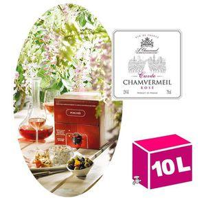 VIN ROSÉ BIB 10L - Vin de France rosé 12° - Chamvermeil