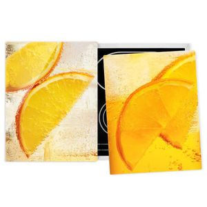 PLAQUE INDUCTION Couvre plaque de cuisson - Orange On Ice - 52x80cm