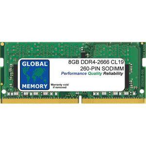 MÉMOIRE RAM 8Go DDR4 2666MHz PC4-21300 260-PIN SODIMM MÉMOIRE