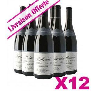 VIN ROUGE 12 Bts Chapoutier - Côtes du Rhône Belleruche Roug