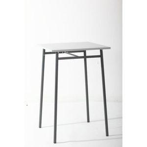 TABLE DE JARDIN  Table haute d'extérieur Hespéride Cayey gris