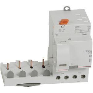 Legrand LEG411660 Interrupteur diff/érentiel dx-id Vis//Vis 4P 400 V 25 A Type AC 30 mA D/épart bas 4 m