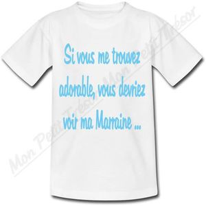 t shirt marraine achat vente t shirt marraine pas cher cdiscount. Black Bedroom Furniture Sets. Home Design Ideas