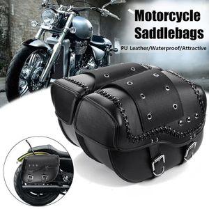 Moto Chrome Saddlebag C/ôt/é LED Feu stop frein Sacoche de selle pour Harley Touring Road Glide Mod/èles red