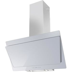 HOTTE SOGELUX Hotte Inclinée 90cm HCLE90BF Verre Blanc