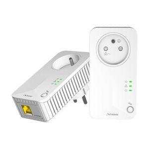 COURANT PORTEUR - CPL Strong CPL 500 Mbps, Kit de 2 adaptateurs CPL avec