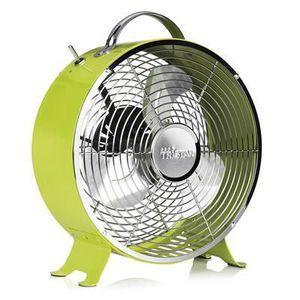 VENTILATEUR Ventilateur rétro en métal de 25 cm 20W vert