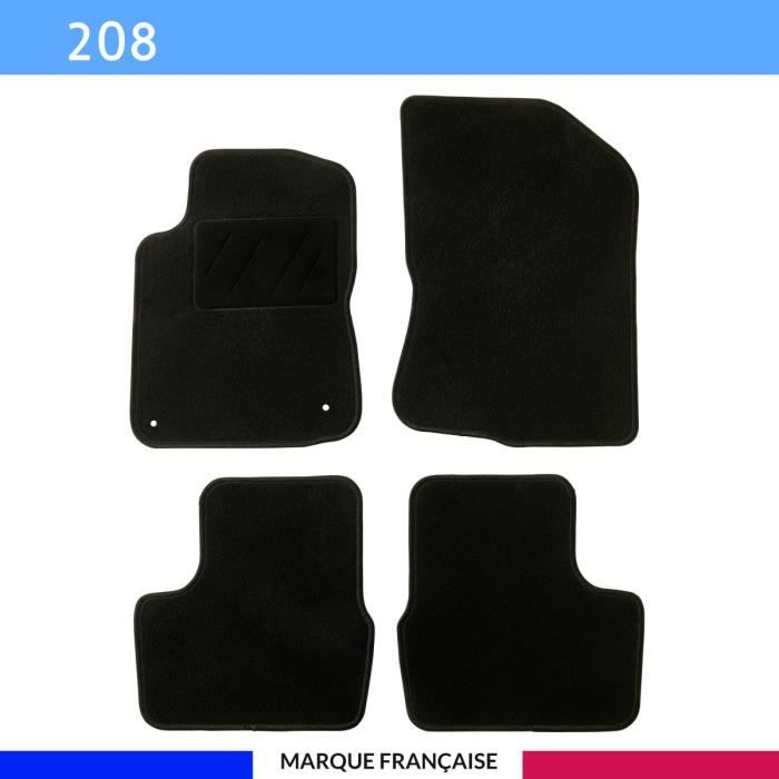 Tapis de voiture - Sur Mesure pour 208 (2012 - 2019) - 4 pièces - Tapis de sol antidérapant pour automobile
