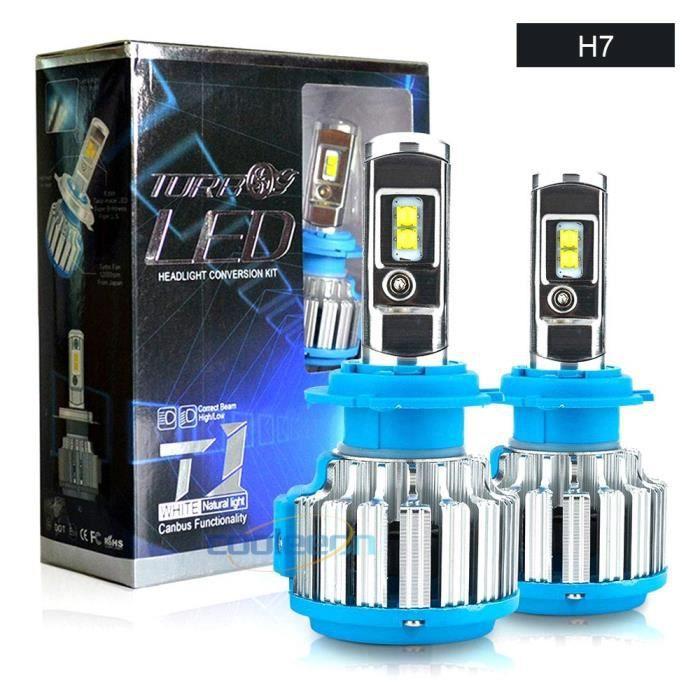 ampoule de voiture LED H7 H1 H4, feux de croisement et de route, phares de voiture, 9-32V, H3 H11 HL-T1 9005 9006 [12F6EF9]