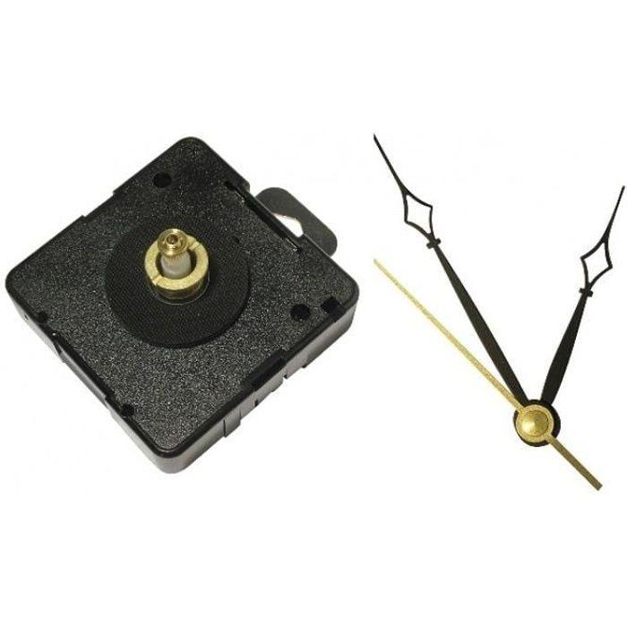 Mécanisme 17 mm et Aiguilles pour horloge : Rétro - Artémio Noir