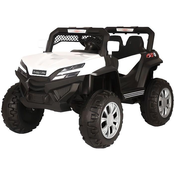 Buggy little 12v Blanc - Voiture Buggy électrique pour enfant avec batterie et télécommande