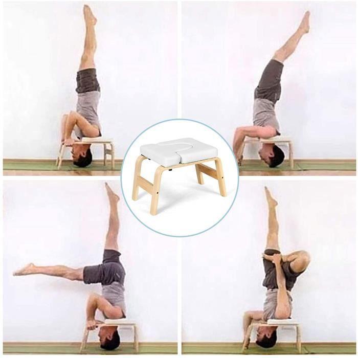GOPLUS Banc de Yoga Inversé Headstand Bench pour Entraînement,Coussin en Cuir PVC et Eponge,Soulager la Fatigue,Renforcer le Corps