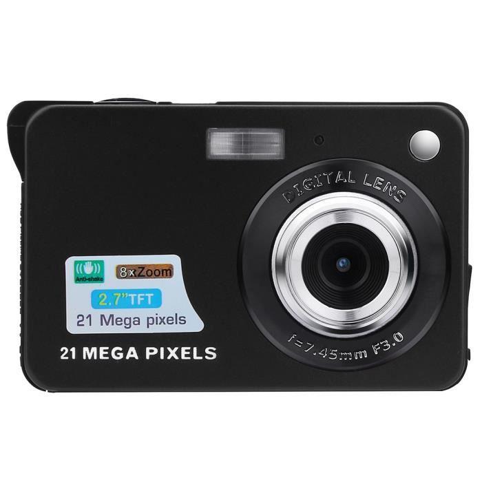 2.7HD écran Appareil photo numérique 21MP Anti-Shake détection de visage Caméscope blanc noir ZBB90327001BK_Adaniza