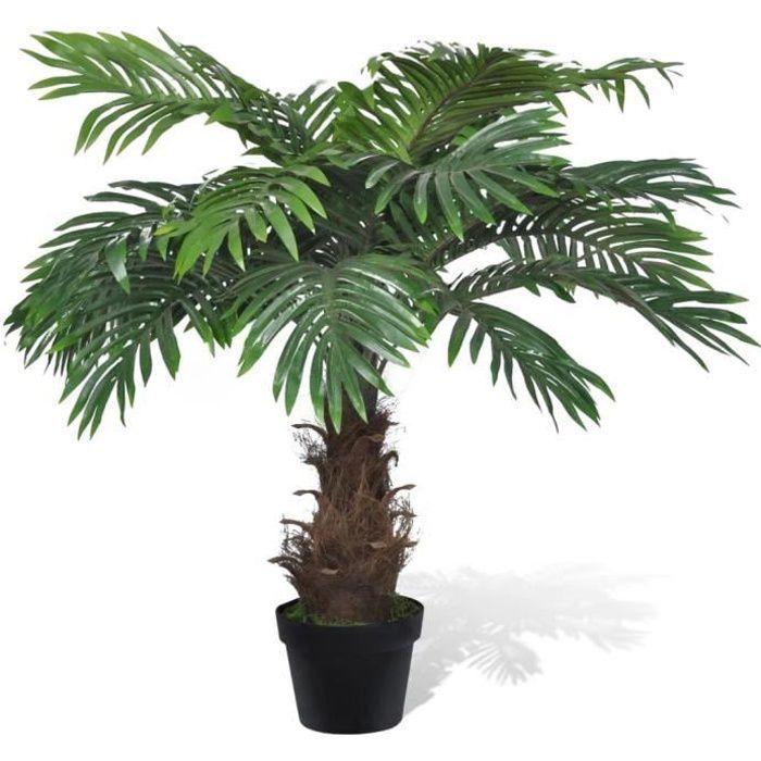 Moderne- Palmier cycus artificiel 80 cm Plante artificielle-Arbre Artificiel Convient pour Intérieur ou Extérieur avec pot