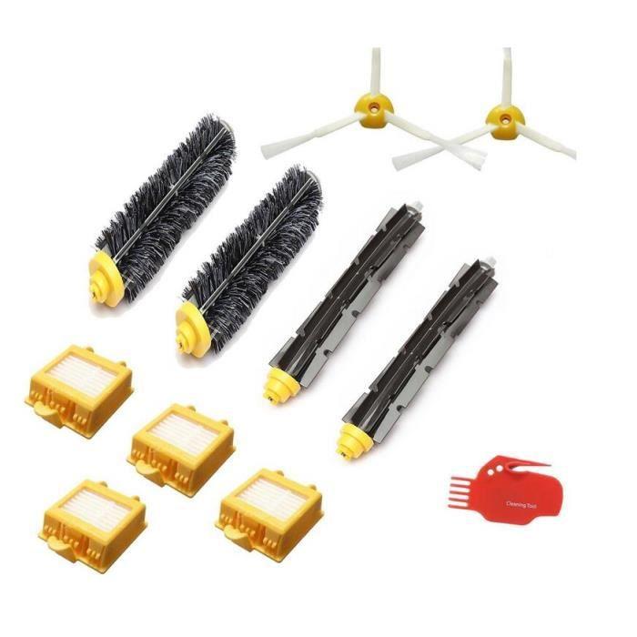Kit d'accessoires pour Irobot Roomba 700 760 770 780 Série 790 Réparation de l'aspirateur incluant filtre 11pcs
