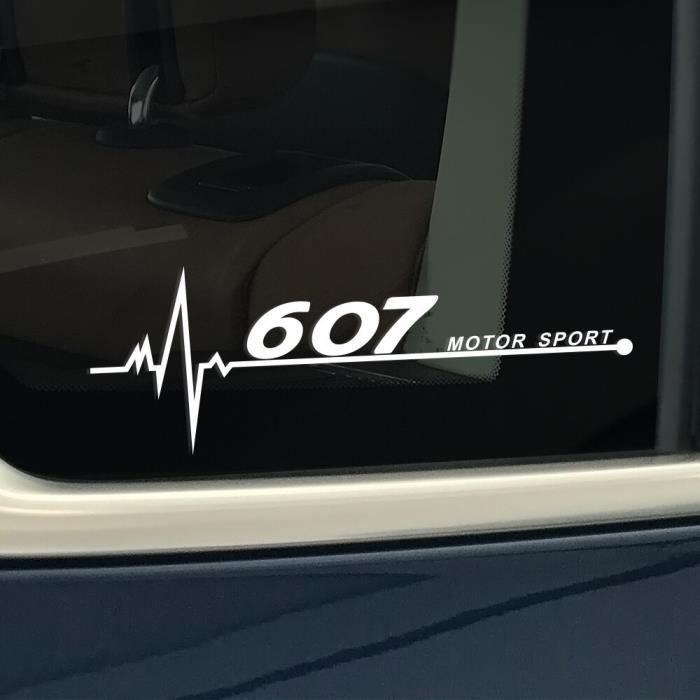 For 607 Black -Autocollant de fenêtre latérale réfléchissant en PVC, décor de voiture, accessoires pour Peugeot 206 307 308 407 207