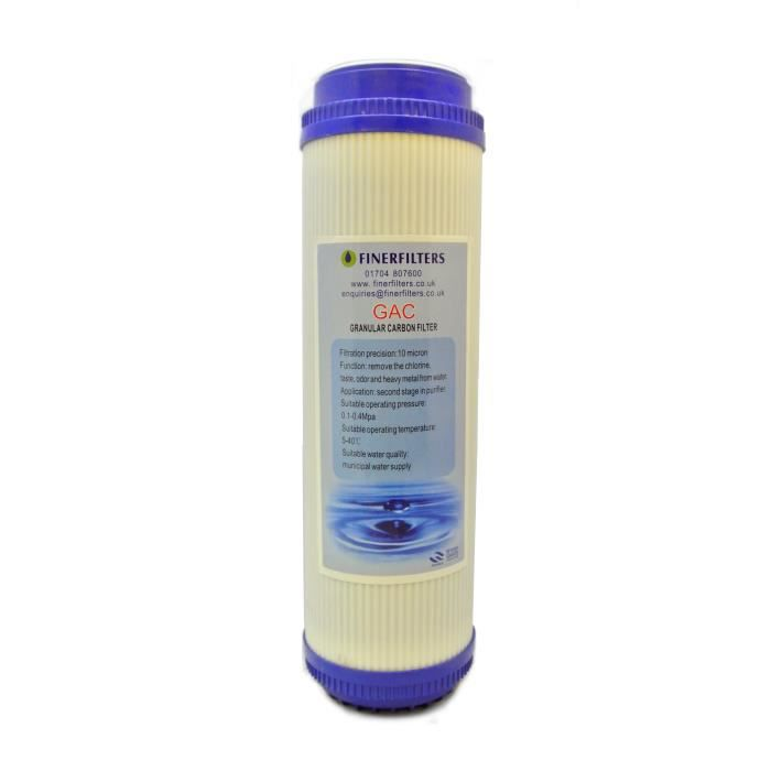 Finerfilters GAC charbon actif en grains 10- filtre à eau de cartouche pour toute la maison d'osmose inverse, l'eau potable