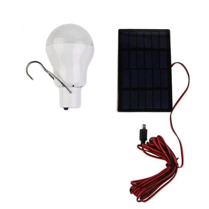 AR3440 Lampe de LED à alimentation solaire système extérieur-intérieur éclairage 1 ampoule panneau solaire faible puissance camp nu