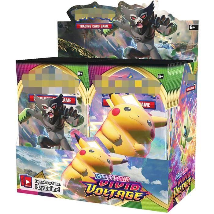 Lot de 360 cartes Pokémon GDZTBS - Booster - Boîte de présentation - Pour les fans de jeux d'enfants (Vivid 1)