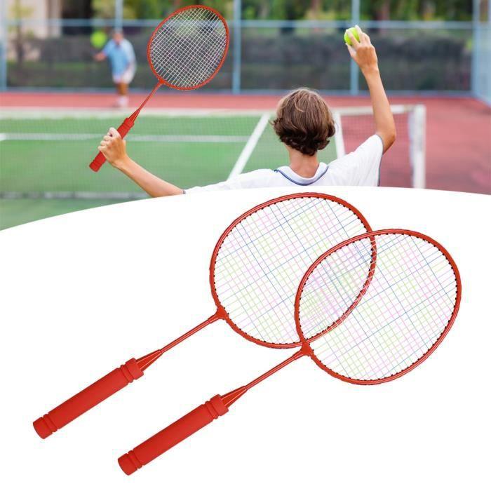 Raquette de Badminton Extérieure Enfants Sport d'Interaction Parent-Enfant Jouet d'Exercice(Rouge )-NIM