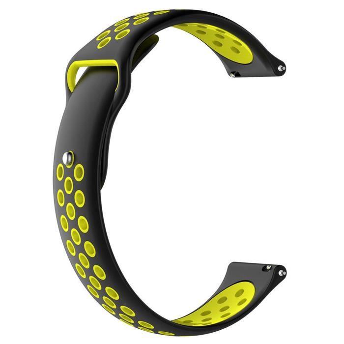 Bracelet De Montre Vendu Seul En Silicone Souple 20 Mm Pour Intelligente Garmin Forerunner 245 - 245M Zpp90508002E_Bd