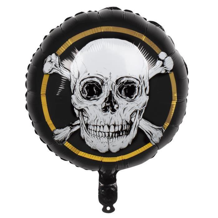 Ballon Tête de mort pirate aluminium 45 cm