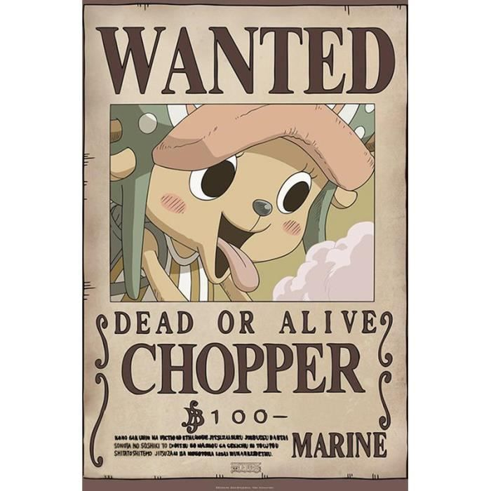 One Piece Poster Wanted Chopper