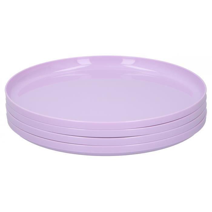 Cuisine Elegance assiette 24,5 cm polypropylène violet 4 pièces