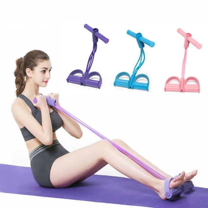 Corde De Tension Multifonctionnelle, Bandes Corde Élastiques Résistance d'Exercices pour Musculation Yoga Fitness (Violet)