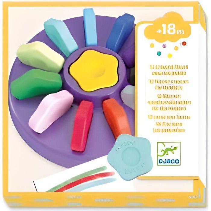 Djeco - 12 crayons fleurs - multicolore