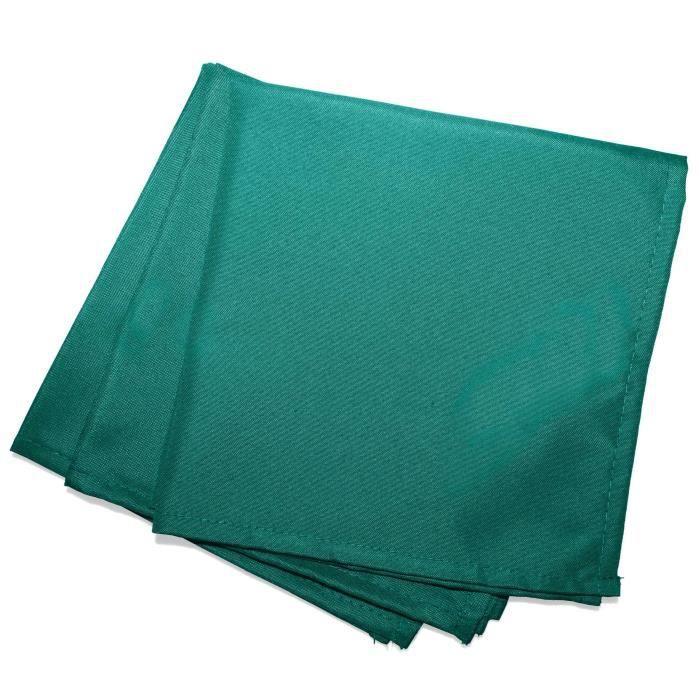 CDaffaires 3 serviettes de table 40 x 40 cm polyester uni essentiel Emeraude