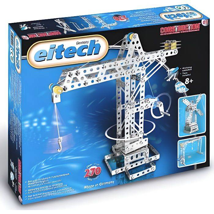 Construction mécanique - Coffret moulin et grue