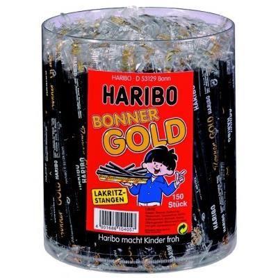 Haribo Réglisse Bonner lingots d'or, 150 pièces