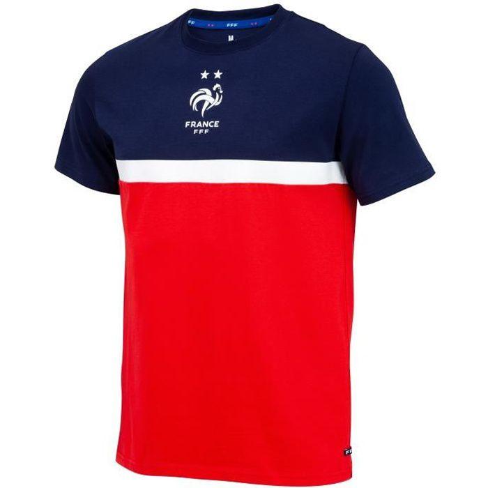 T-shirt FFF - Collection officielle Equipe de France de Football - Taille enfant garçon 4 ans