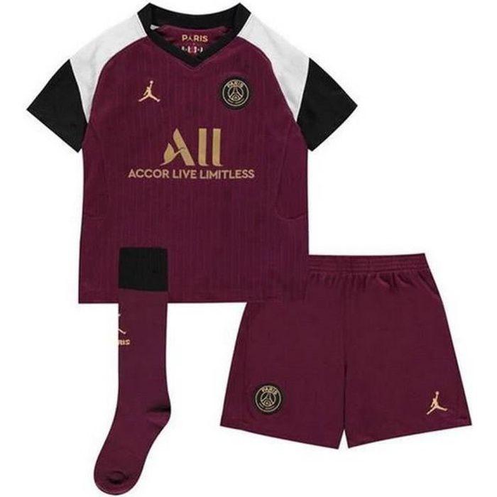 Mini-Kit Officiel Enfant Jordan Nike PSG Paris Saint-Germain Third Saison 2020-2021