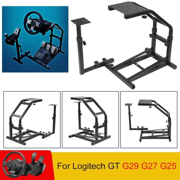 Support Or de volant de course Stable Game Support de volant pour Logitech Gt G29 G27 G25