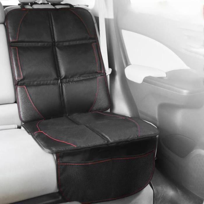 Protection de siège voiture - pour siège auto - protection siege arriere voiture enfants haut de gamme - compatible (noir)