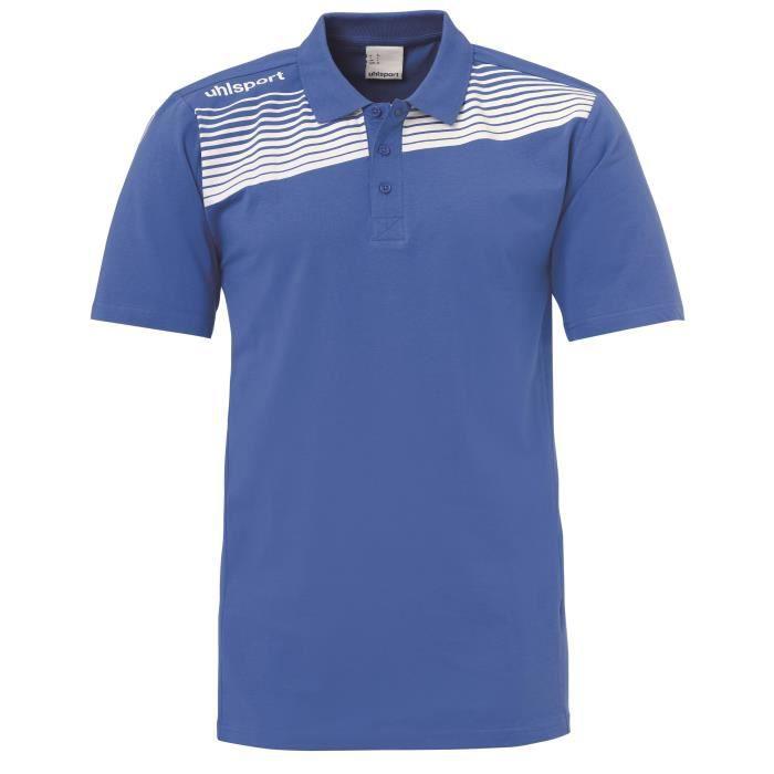 Polo Uhlsport Liga 2.0 - bleu azur-blanc - M
